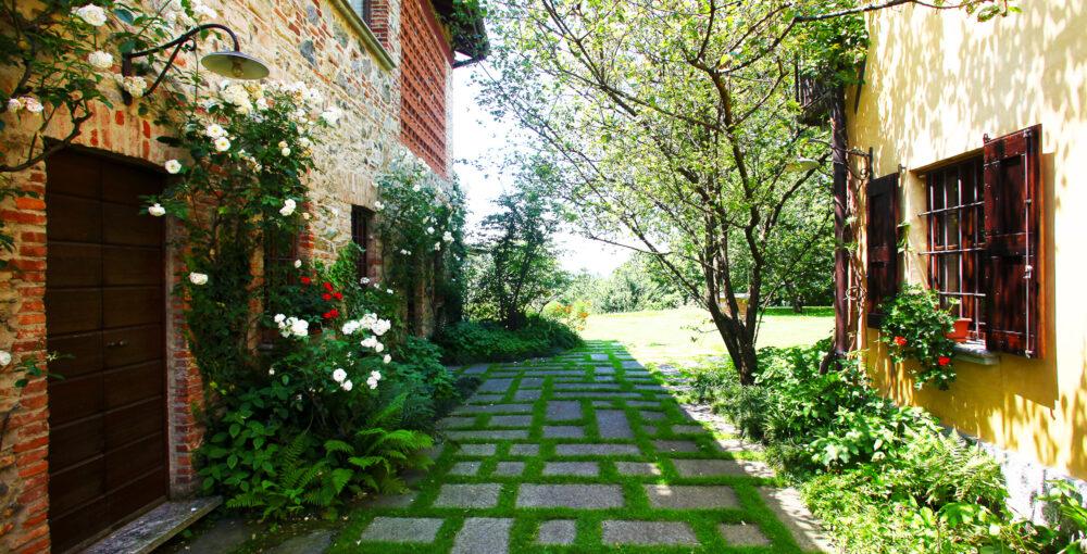 villa con verde lecco